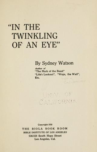 """In the twinkling of an eye,"""