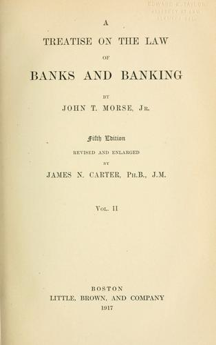 Download A treatise on the law of banks and banking.