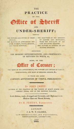 Download The practice of the office of sheriff and under-sheriff