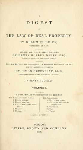 Download A digest of the law of real property.