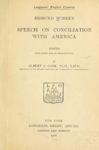 Download Edmund Burke's speech on conciliation with America