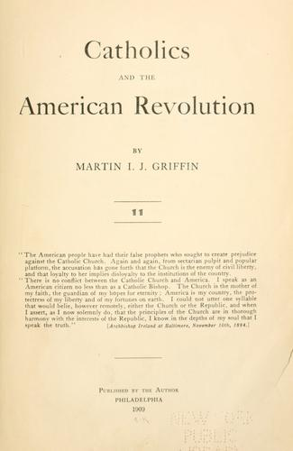 Download Catholics and the American revolution