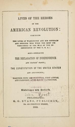 Download Lives of the heroes of the American Revolution