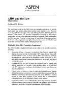 AIDS And the Law