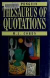 Cover of: The Penguin thesaurus of quotations