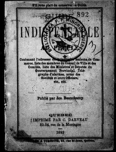 Guide indispensable au peuple by Joseph Beauchamp