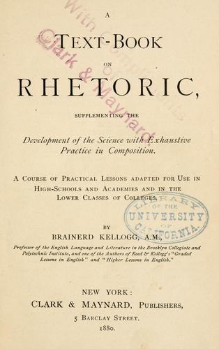 A text-book on rhetoric