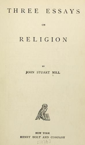 Three essays on religion.