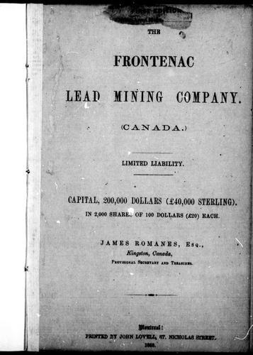 The Frontenac Lead Mining Company (Canada)