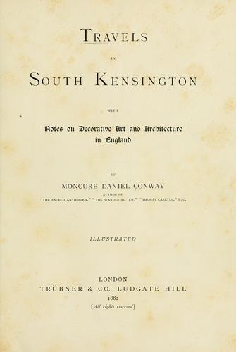 Travels in South Kensington