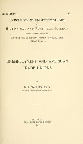 Unemployment and American trade unions