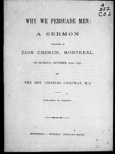 Why we persuade men by Charles Chapman