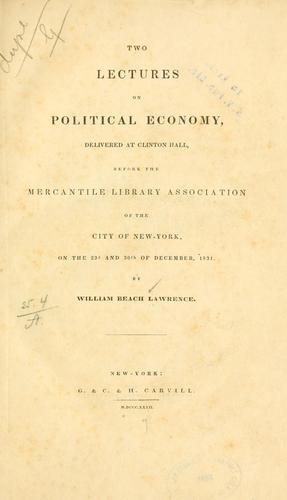 Two lectures on political economy