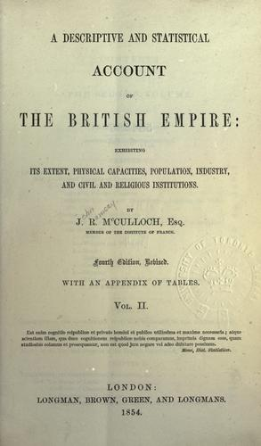 A descriptive and statistical account of the British Empire