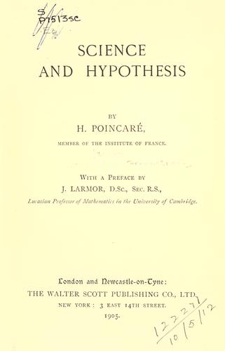 Science and hypothesis.