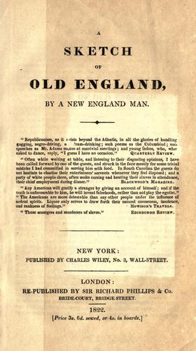 A sketch of old England