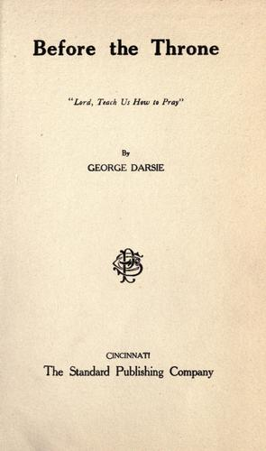 Before the throne by George Darsie