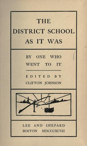 The district school as it was