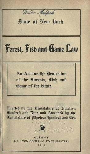 Forest, fish and game law