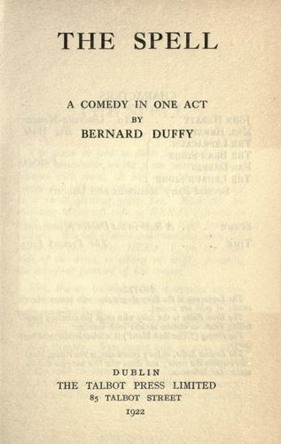 The spell by Bernard Duffy