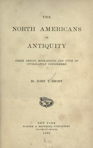 The North Americans of antiquity