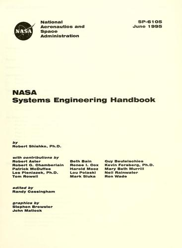 NASA systems engineering handbook by Robert Shishko