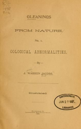 Gleanings from nature by Joseph Warren Jacobs