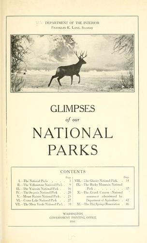Glimpses of our national parks …