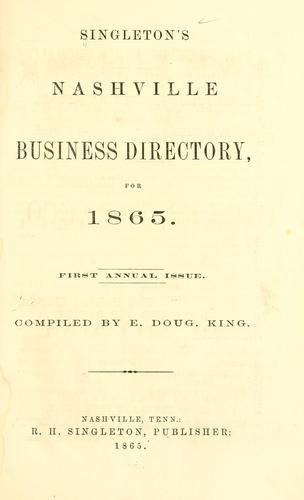 Polk's Nashville (Davidson county, Tenn.) city directory ... 1865 by