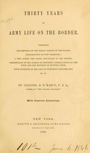 Thirty years of army life on the border.