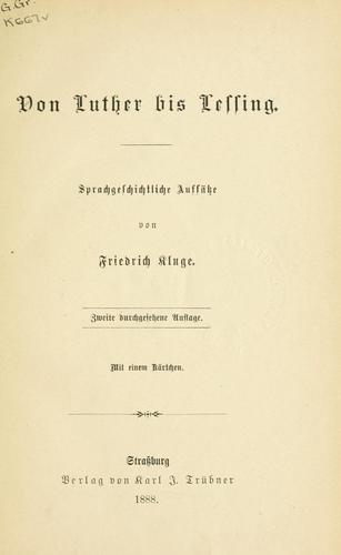 Von Luther bis Lessing