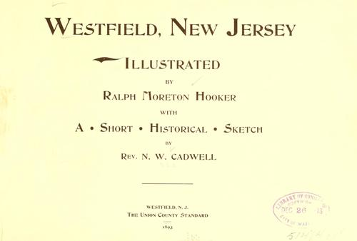 Westfield, New Jersey by N. W. Cadwell