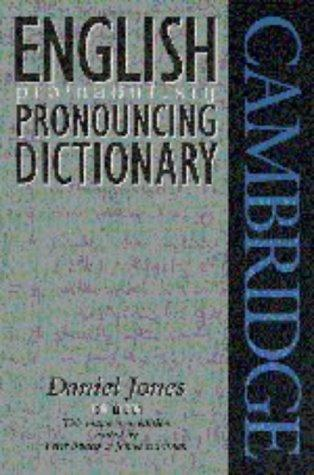 English pronouncing dictionary by Daniel Jones