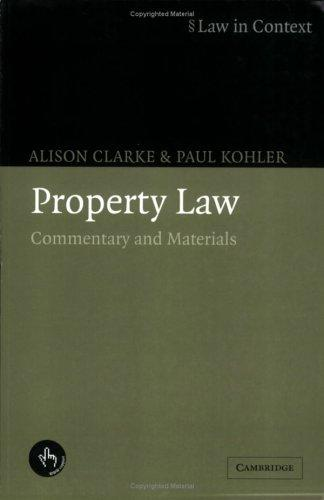 Property law by Clarke, Alison solicitor.