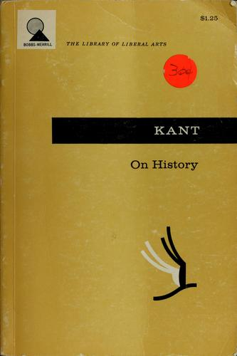 On history. by Immanuel Kant