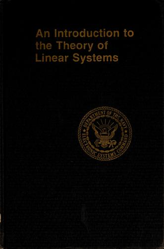 An introduction to the theory of linear systems by R. Fratila