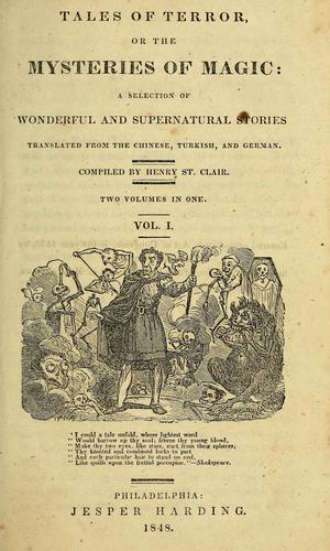 Tales of terror; or, The mysteries of magic by St. Clair, Henry