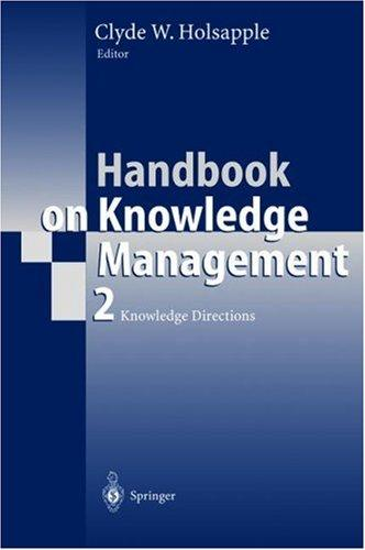 Handbook of Knowledge Management
