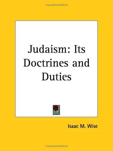 Judaism by Isaac Mayer Wise