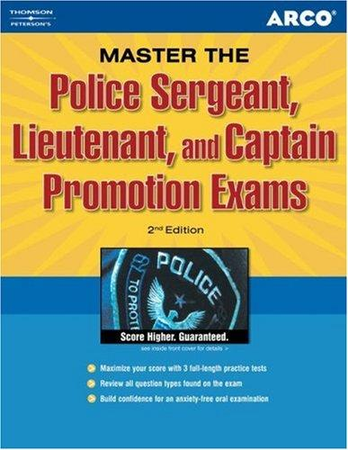 Police sergeant, lieutenant, and captain promotion exams by Francis M. Connolly