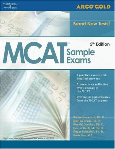 Gold MCAT Sample Exams, 5th edition (Academic Test Preparation Series) by Brisk, Drucker, Garland Bobsworth