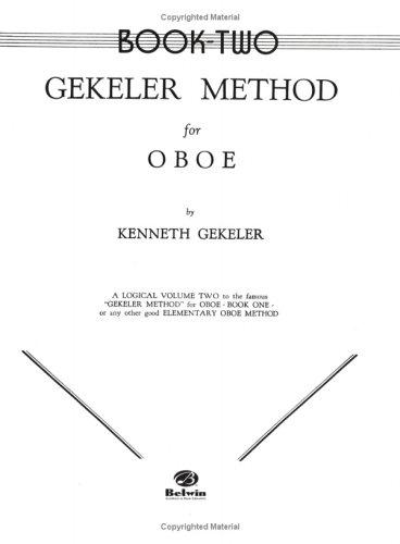 Gekeler Method for Oboe (Gekeler Method) by Kenneth Gekeler