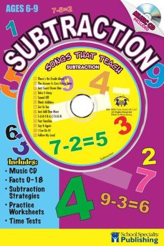 Subtraction Sing Along Activity Book with CD by Kim Mitzo Thompson