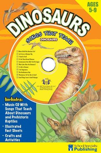 Dinosaurs Sing Along Activity Book with CD by Kim Mitzo Thompson