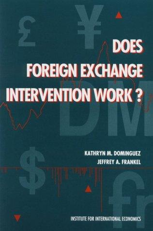 Does foreign exchange intervention work? by Kathryn M. Dominguez