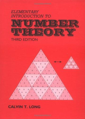 Elementary Introduction to Number Theory