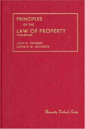 Principles of the law of property