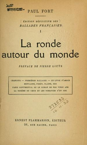 La ronde autour du monde. by Paul Fort