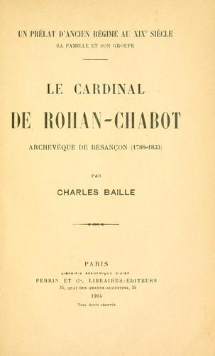 Le cardinal de Rohan-Chabot by Charles Baille
