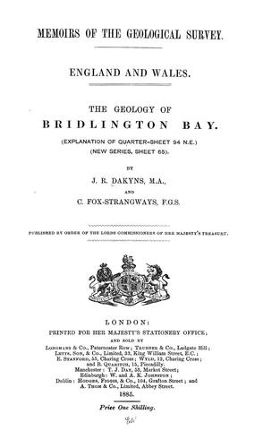 The geology of Bridlington Bay by John Roche Dakyns